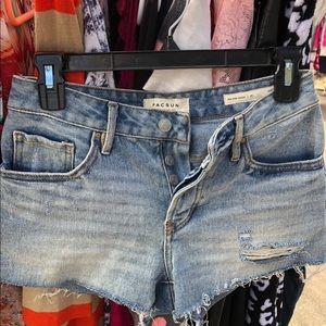 Pacsun Blue Jean Shorts!